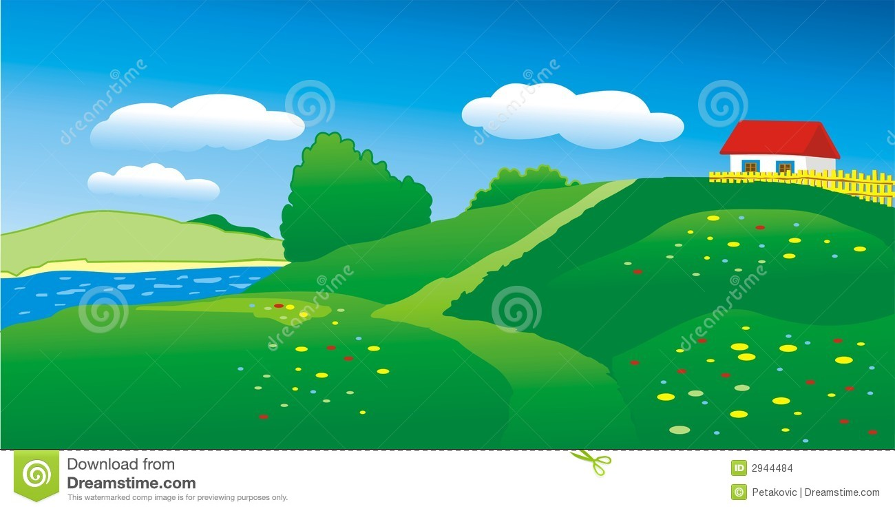 house on hill clipart - photo #15