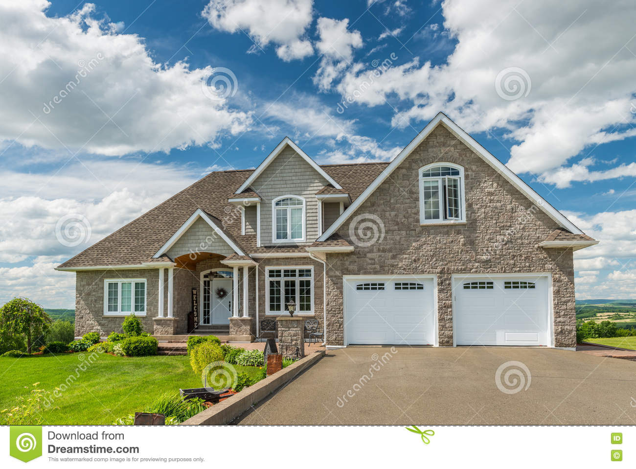 Download House on a Hill stock photo. Image of hilltop, mortgage - 76715712
