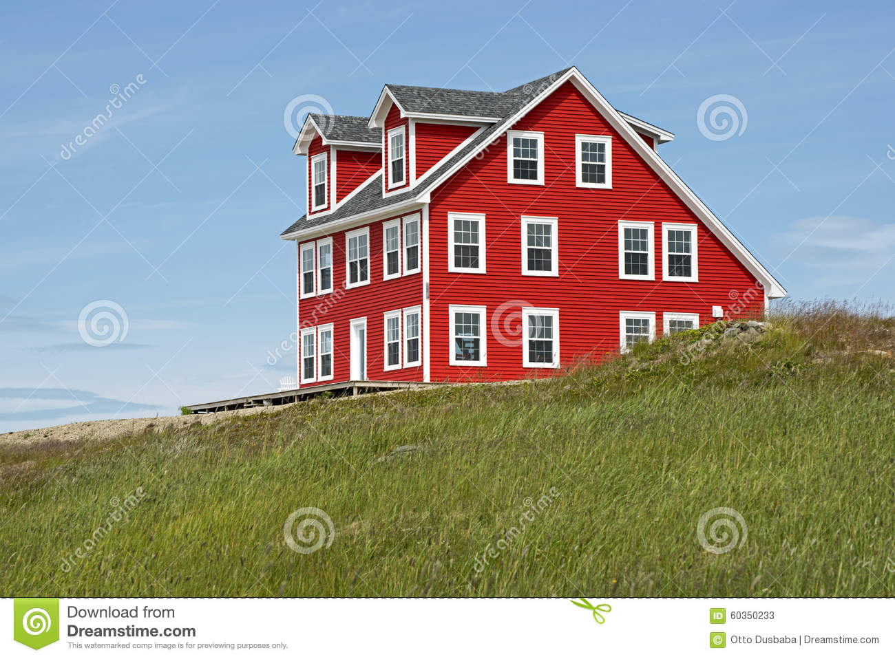 House on a hill in newfoundland stock photo image 60350233 for Home plans newfoundland