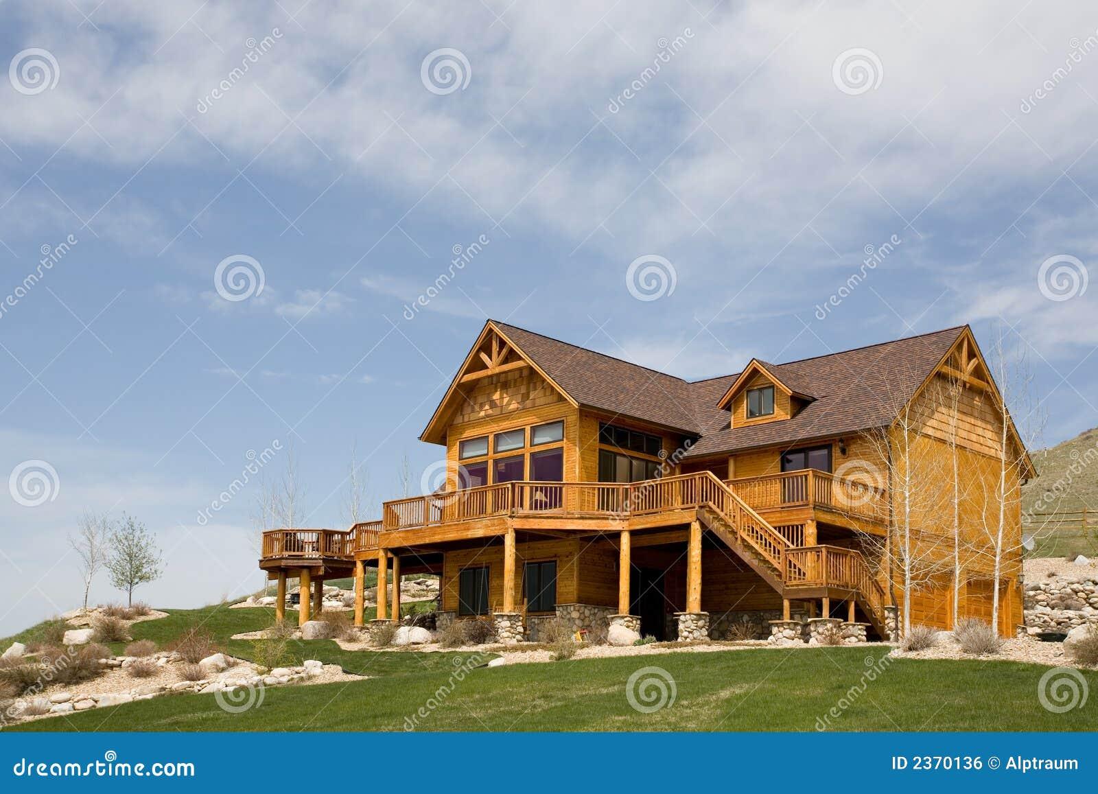 House on a hillside