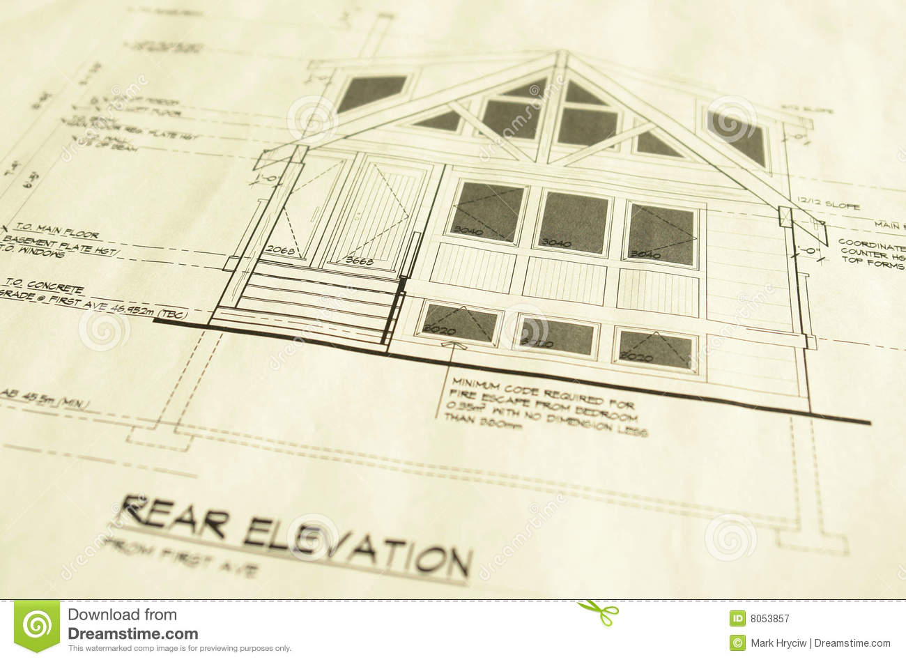 House Home Blueprints Plans Royalty Free Stock Photography Image
