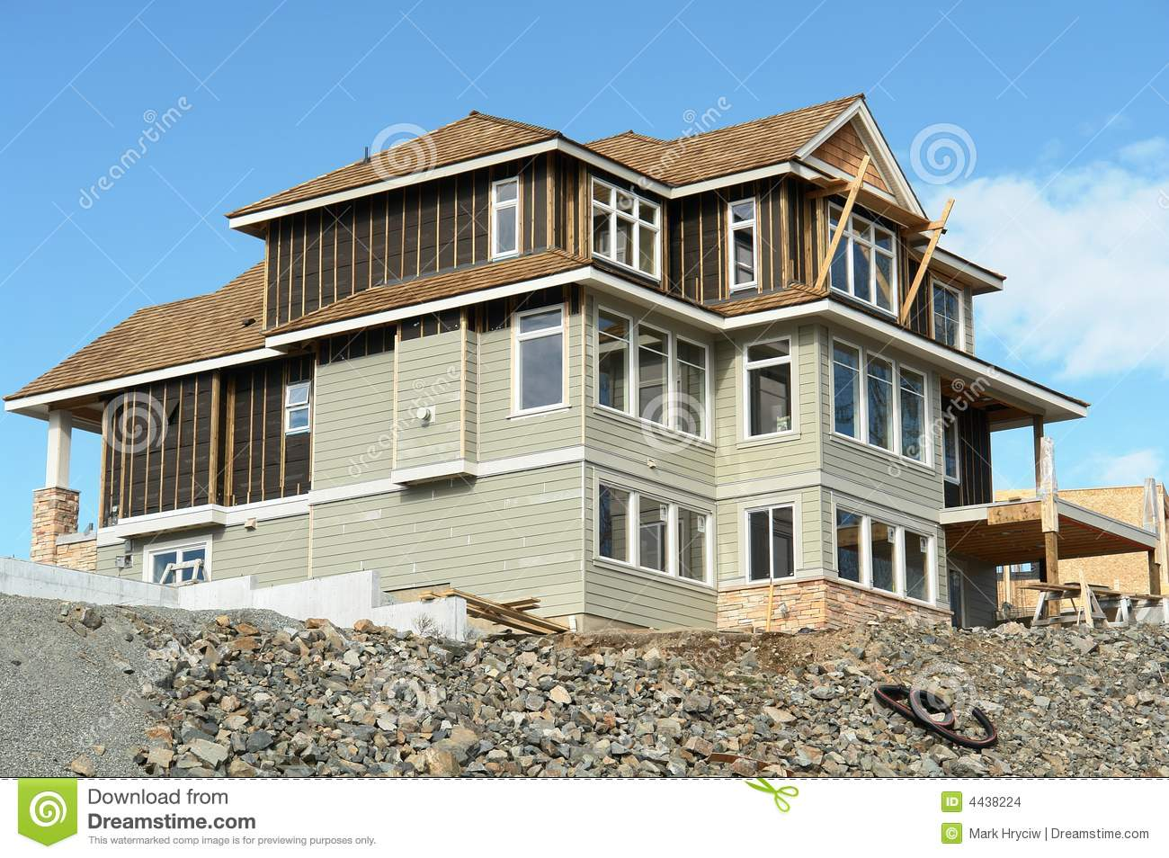 Home Elevation Design App House Home Construction Siding Stock Images Image 4438224