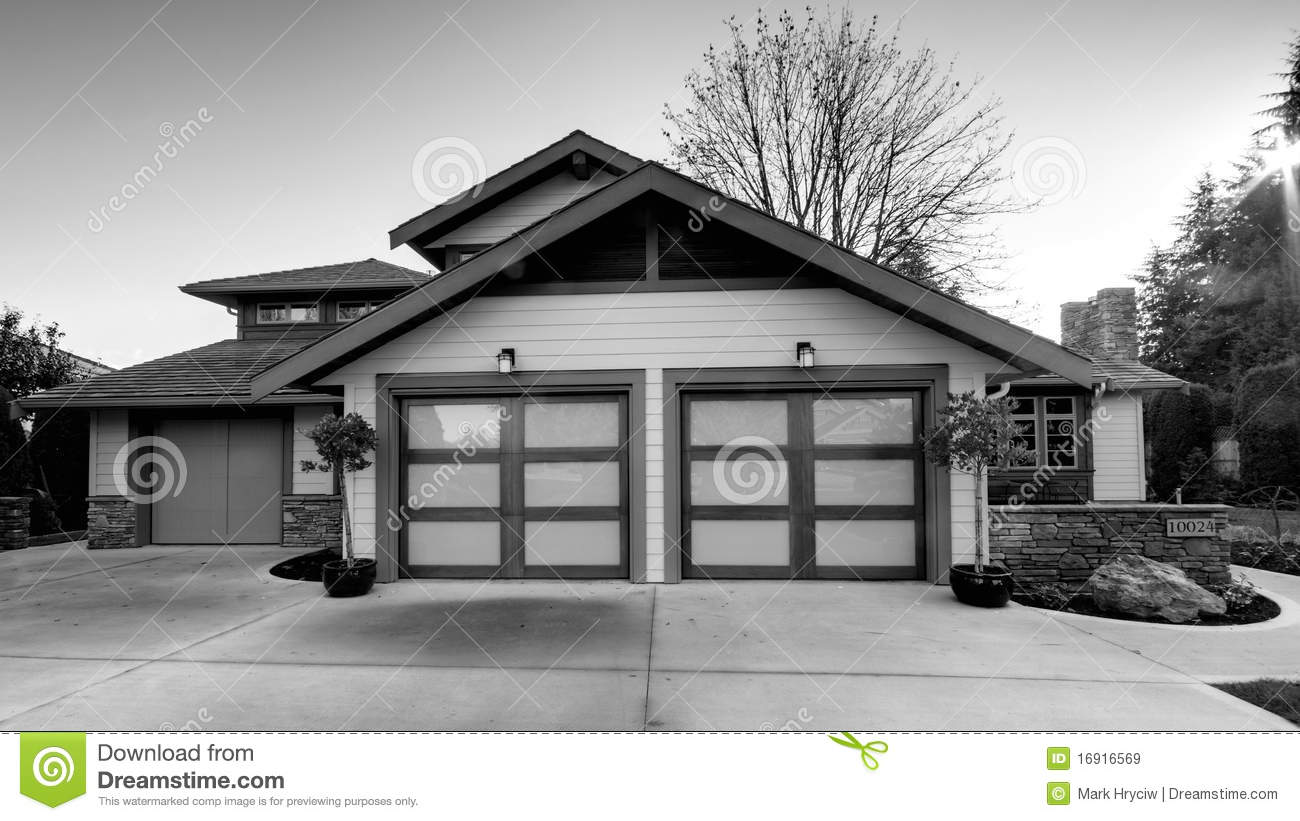 House home exterior black and white stock image image Black and white homes
