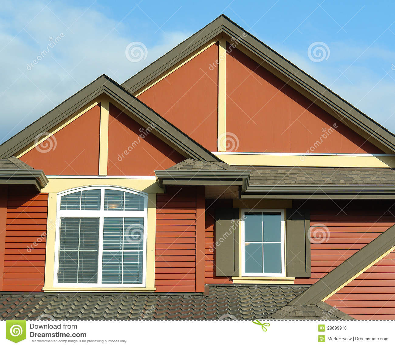 Exterior Mansion: House Home Exterior Roof Details Stock Photo