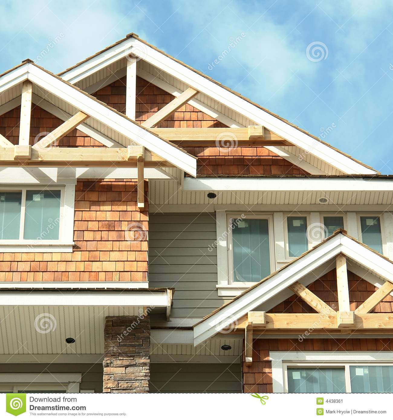House Home Exterior Siding Stock Image - Image: 4438361