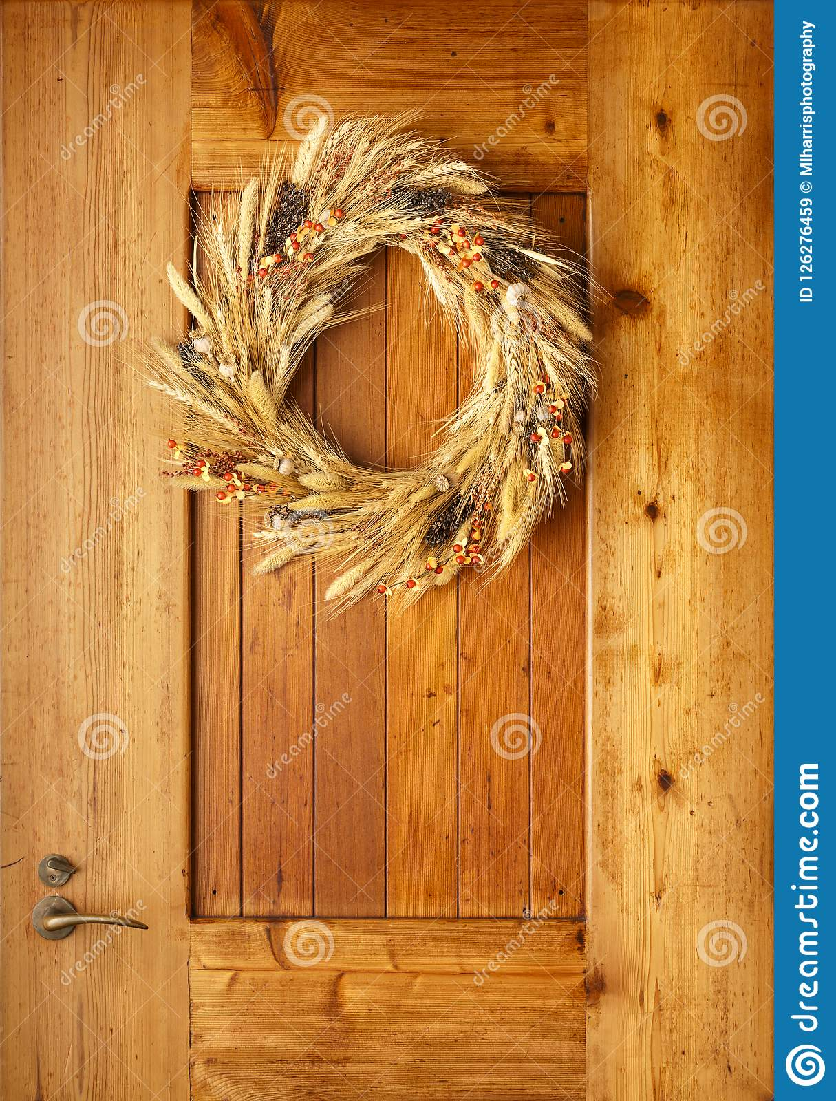 House Home Front Door Fall Autumn Thanksgiving Decorations Country