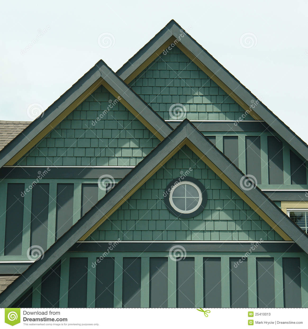 House home green siding details stock image image 25410013 for Green siding house