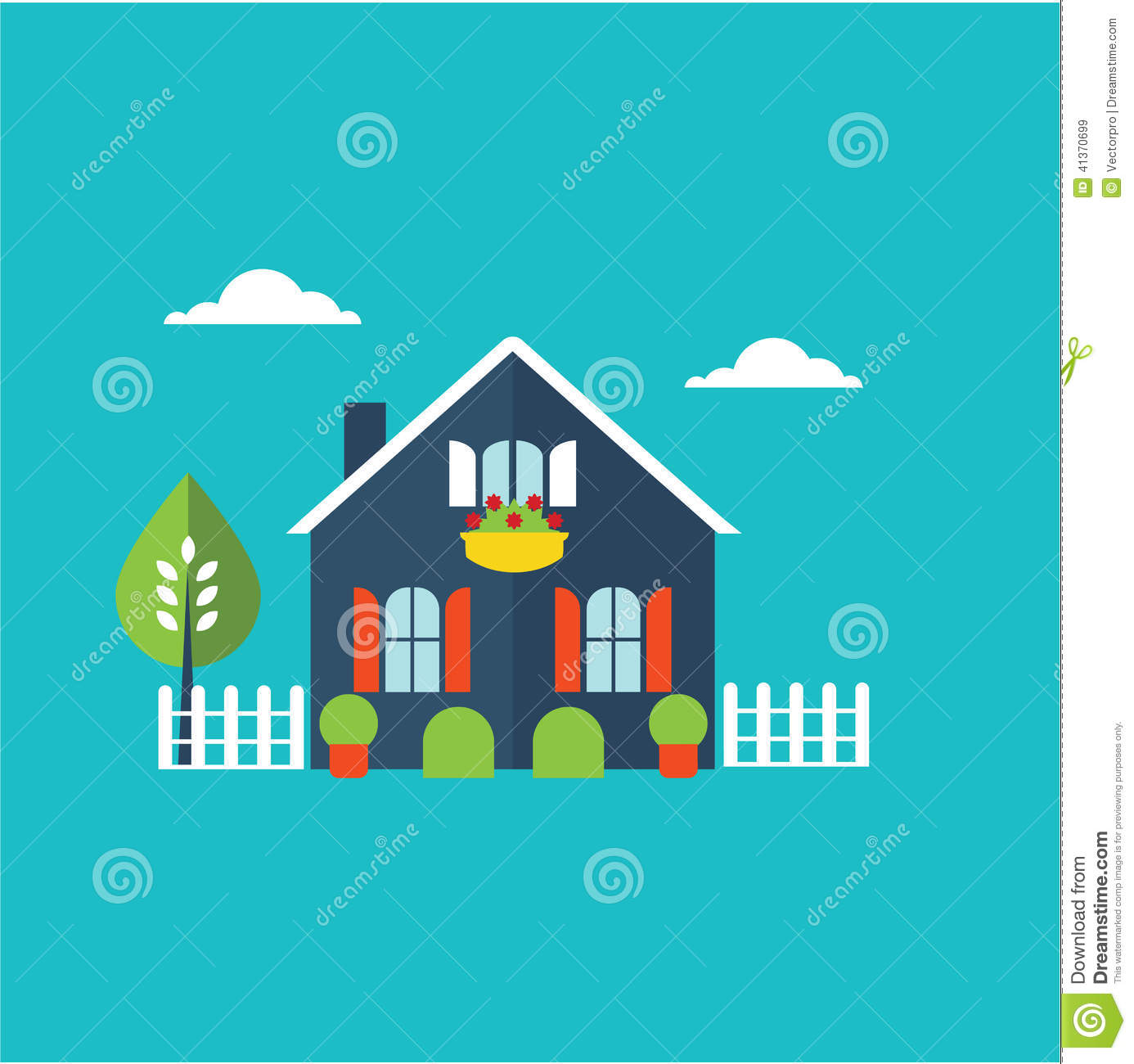 House Home Illustration Stock Vector Image 41370699