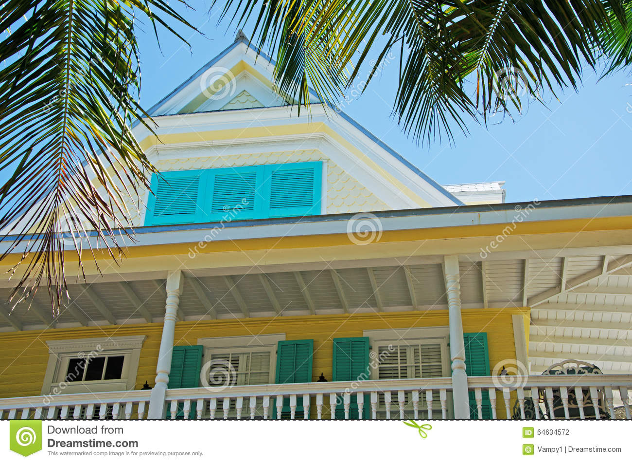 Key west style architecture royalty free stock photography for Florida style windows
