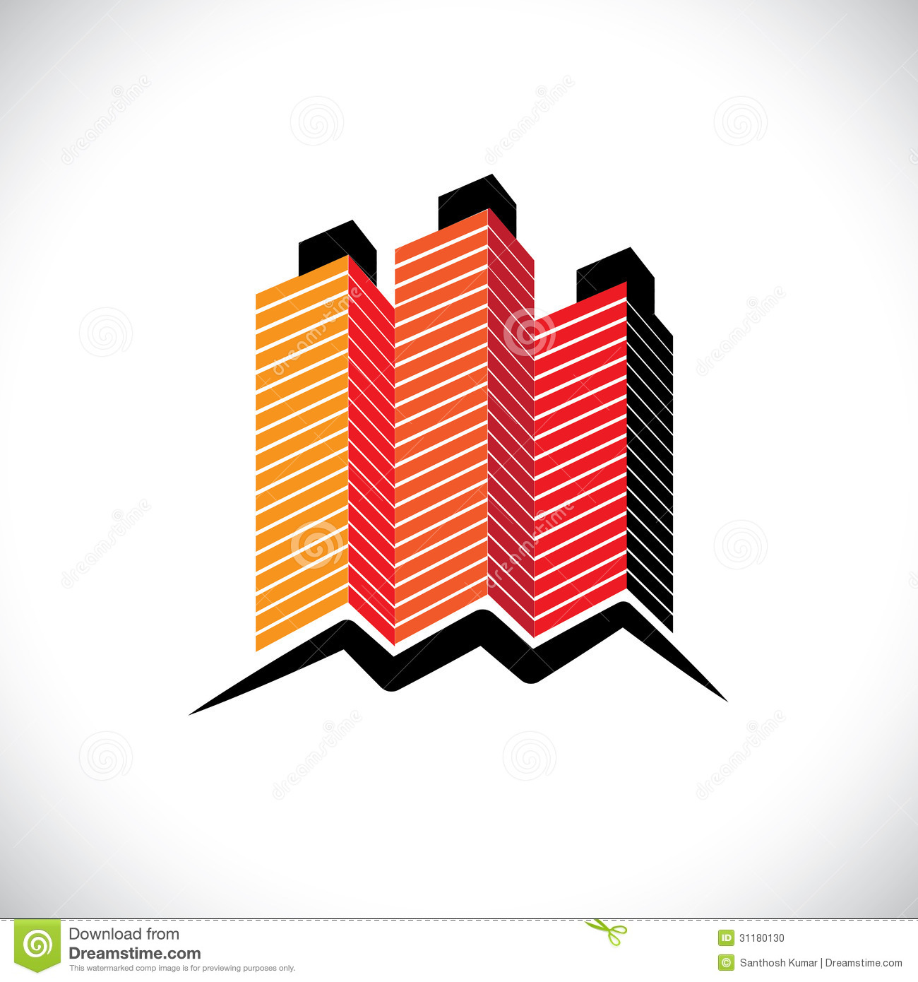 Commercial Property Graphics : House home office or apartment symbol stock vector