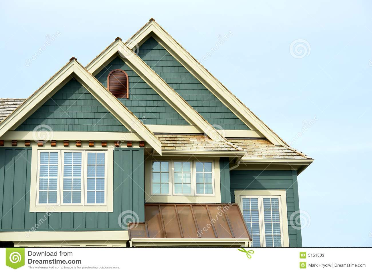 House Home Roof Gable Siding Stock Image Image 5151003