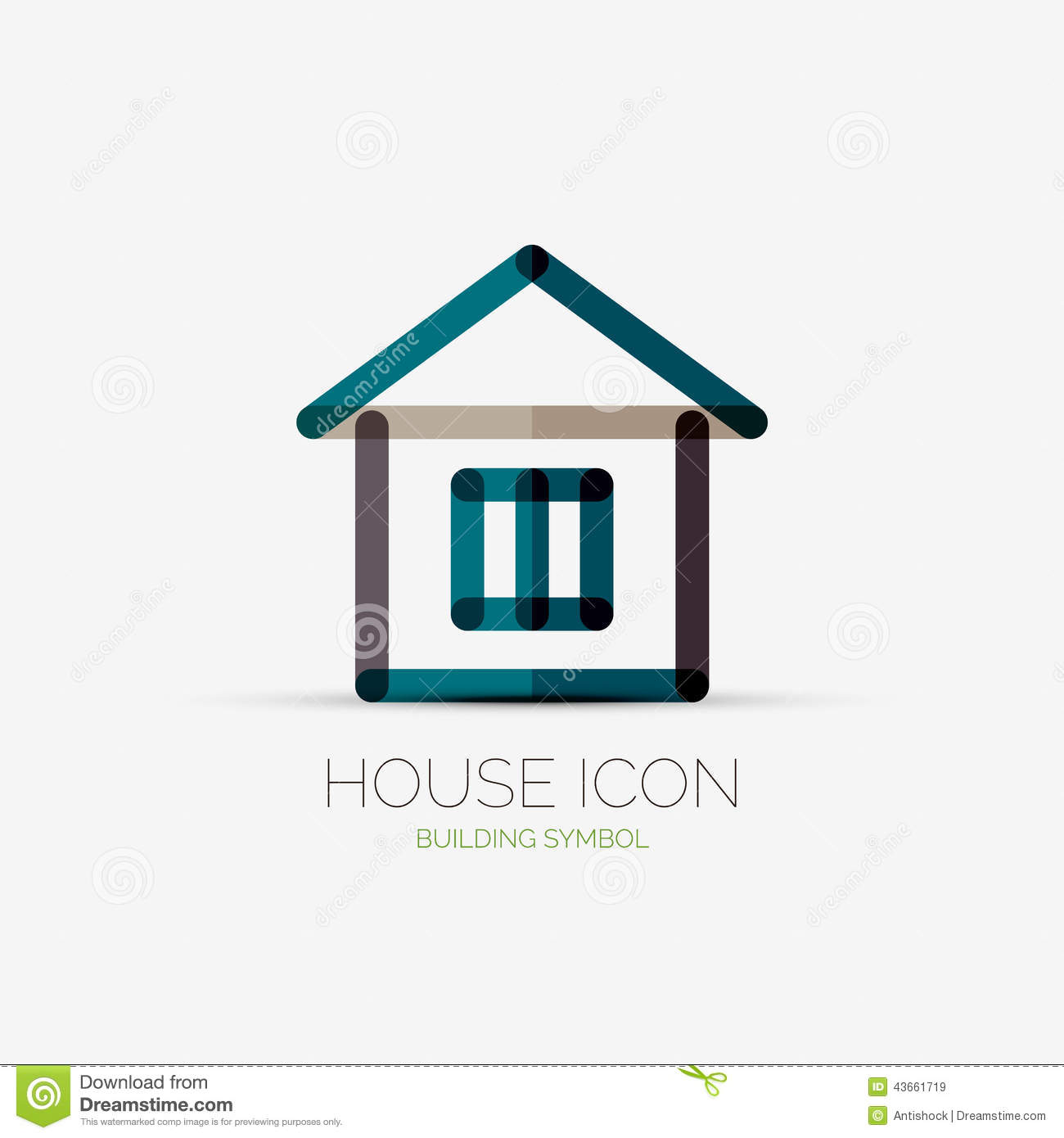 House icon company logo business concept for House design company