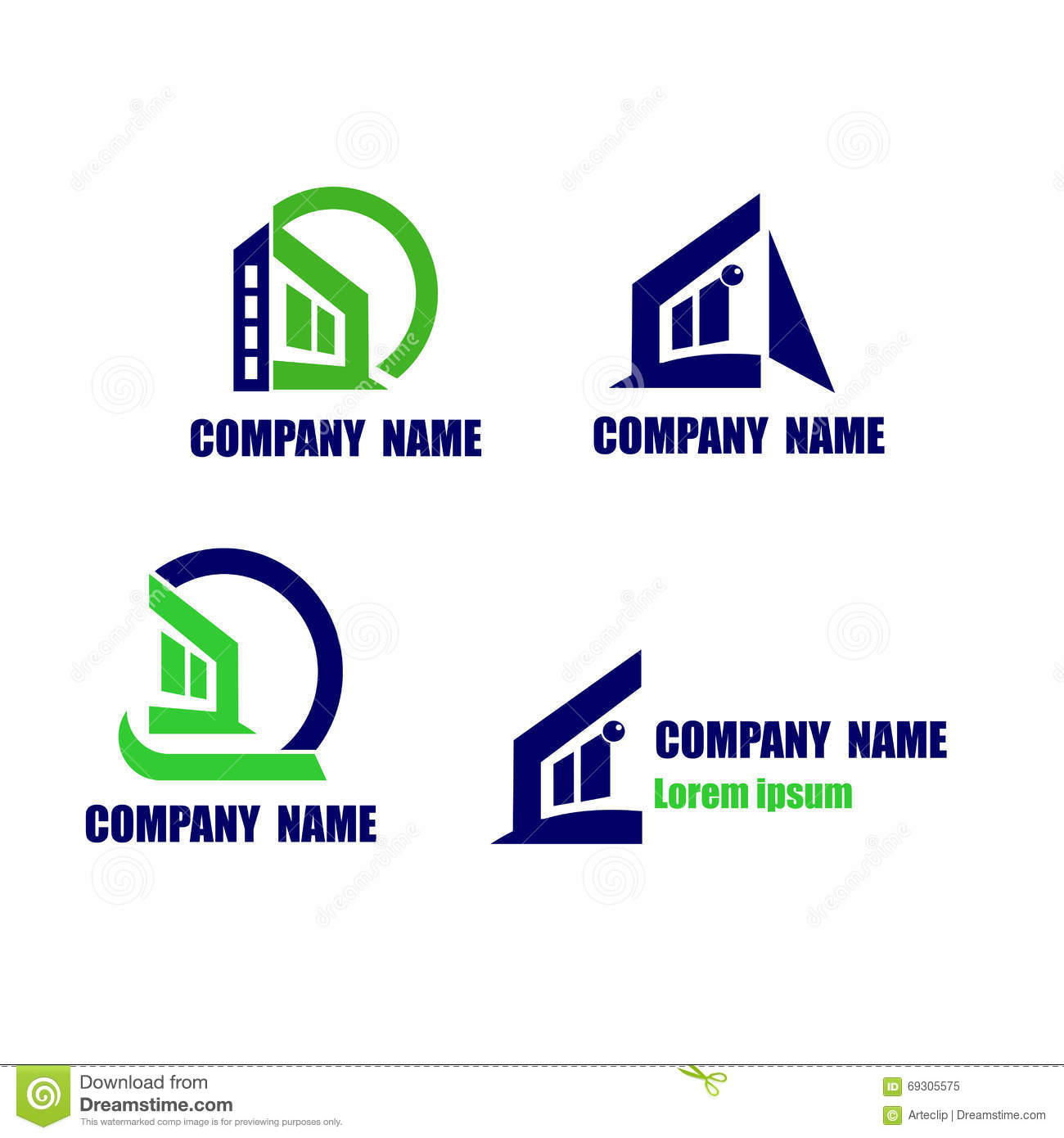 Dreams Construction Company: House Icon. Construction And Real State Company Logo Stock