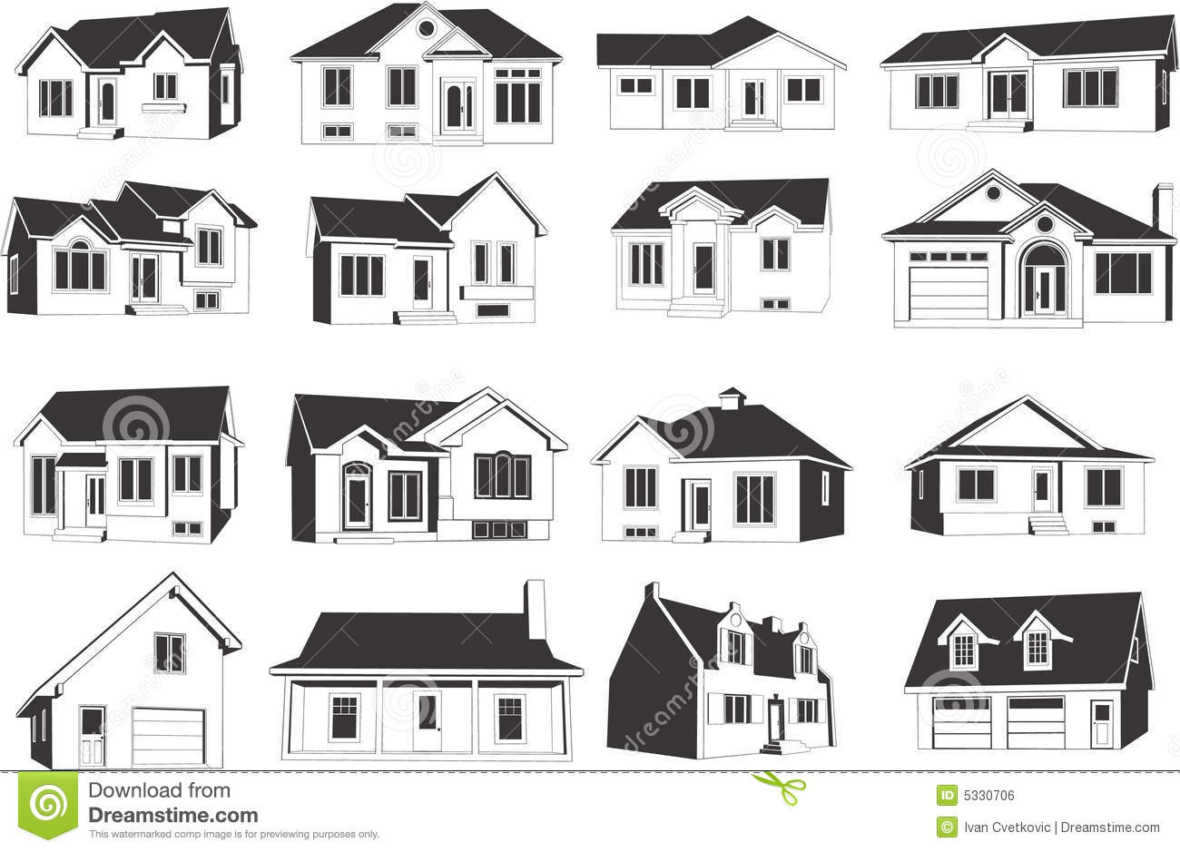 House icon set stock vector image of estate property for Free house photos