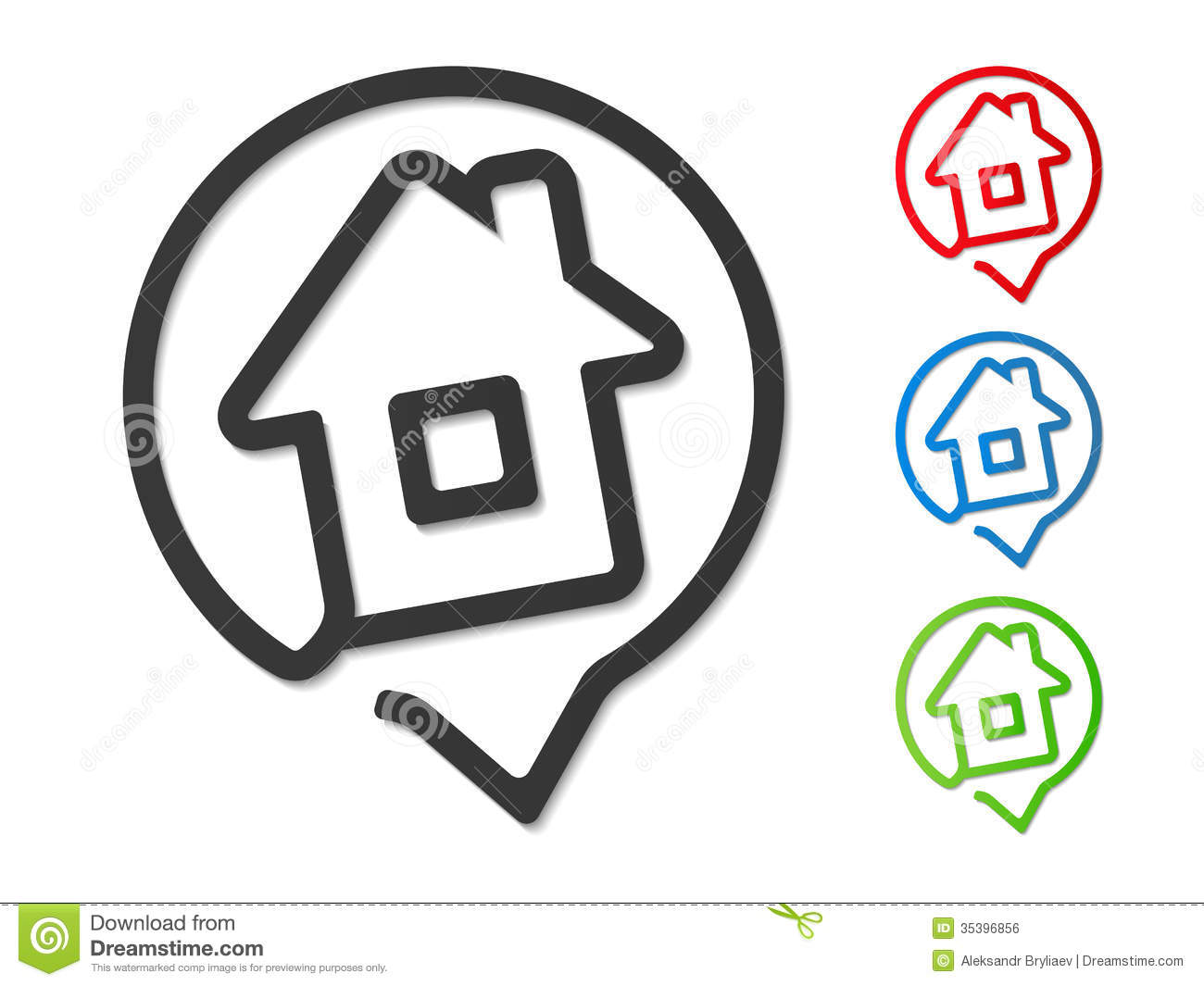 Location Position Icon Free Vector Graphic On Pixabay: House Icon Royalty Free Stock Image