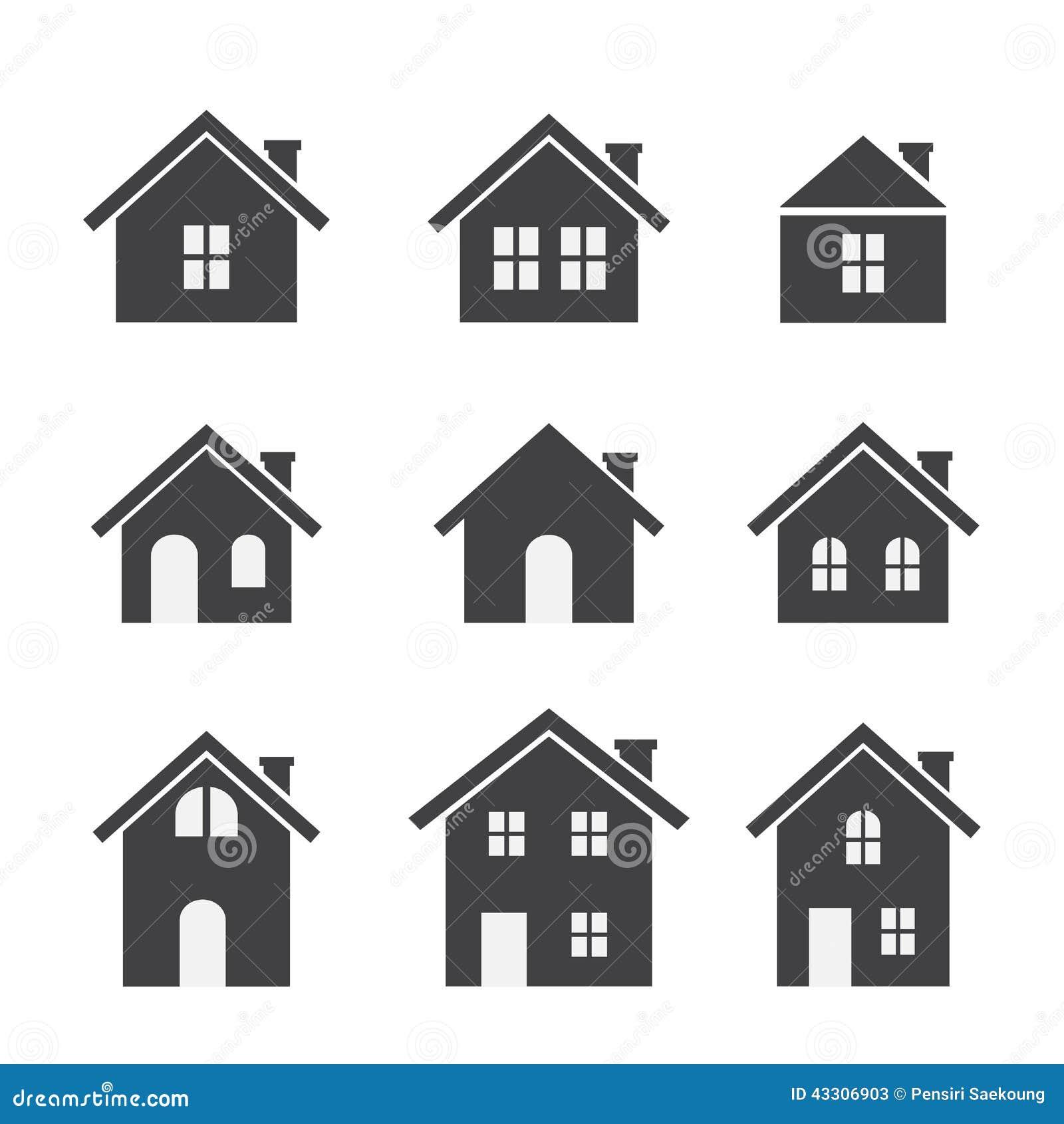 house icon set stock vector