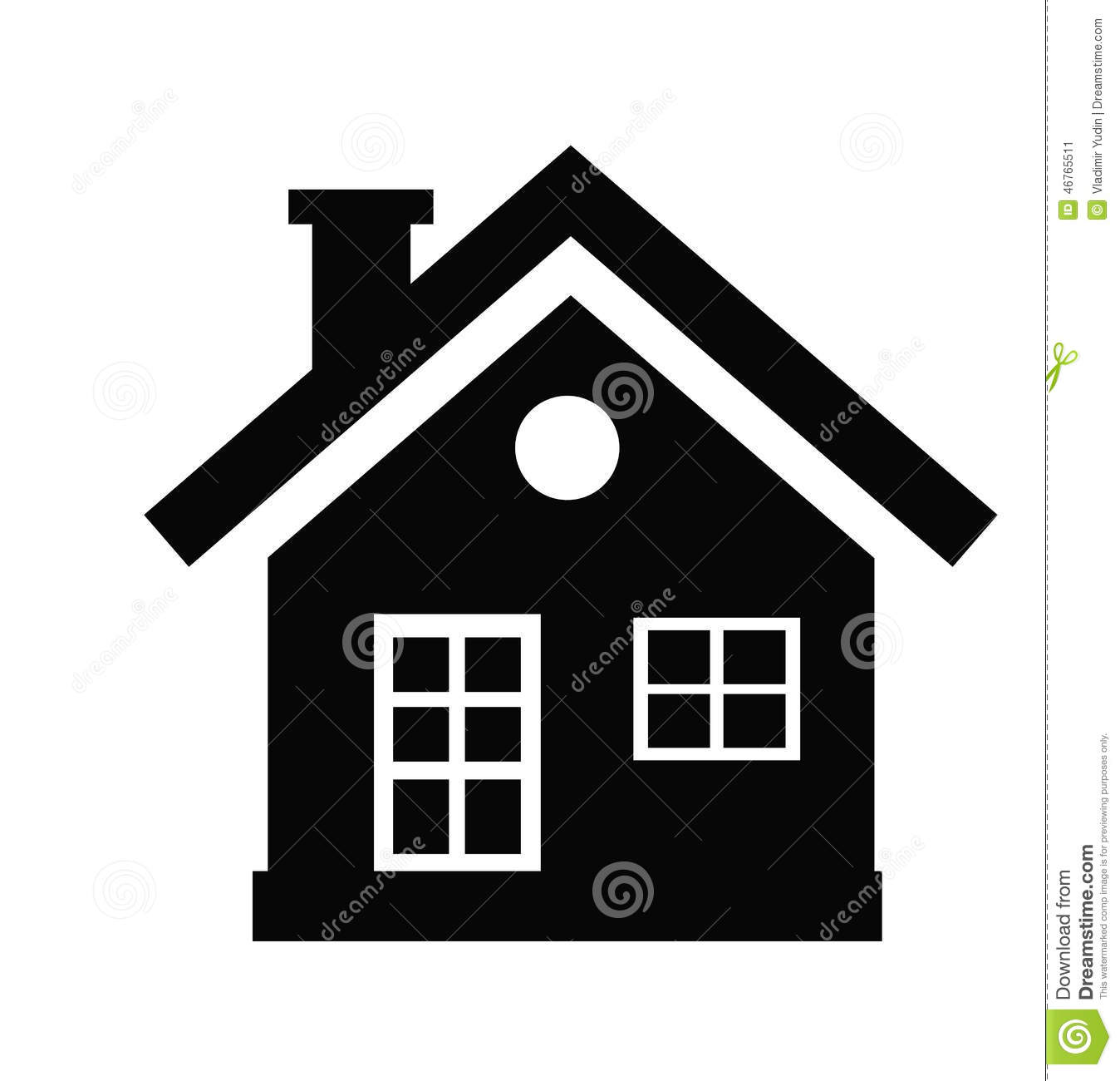 c2afb35a76c6 House icon stock vector. Illustration of vector, shelter - 46765511