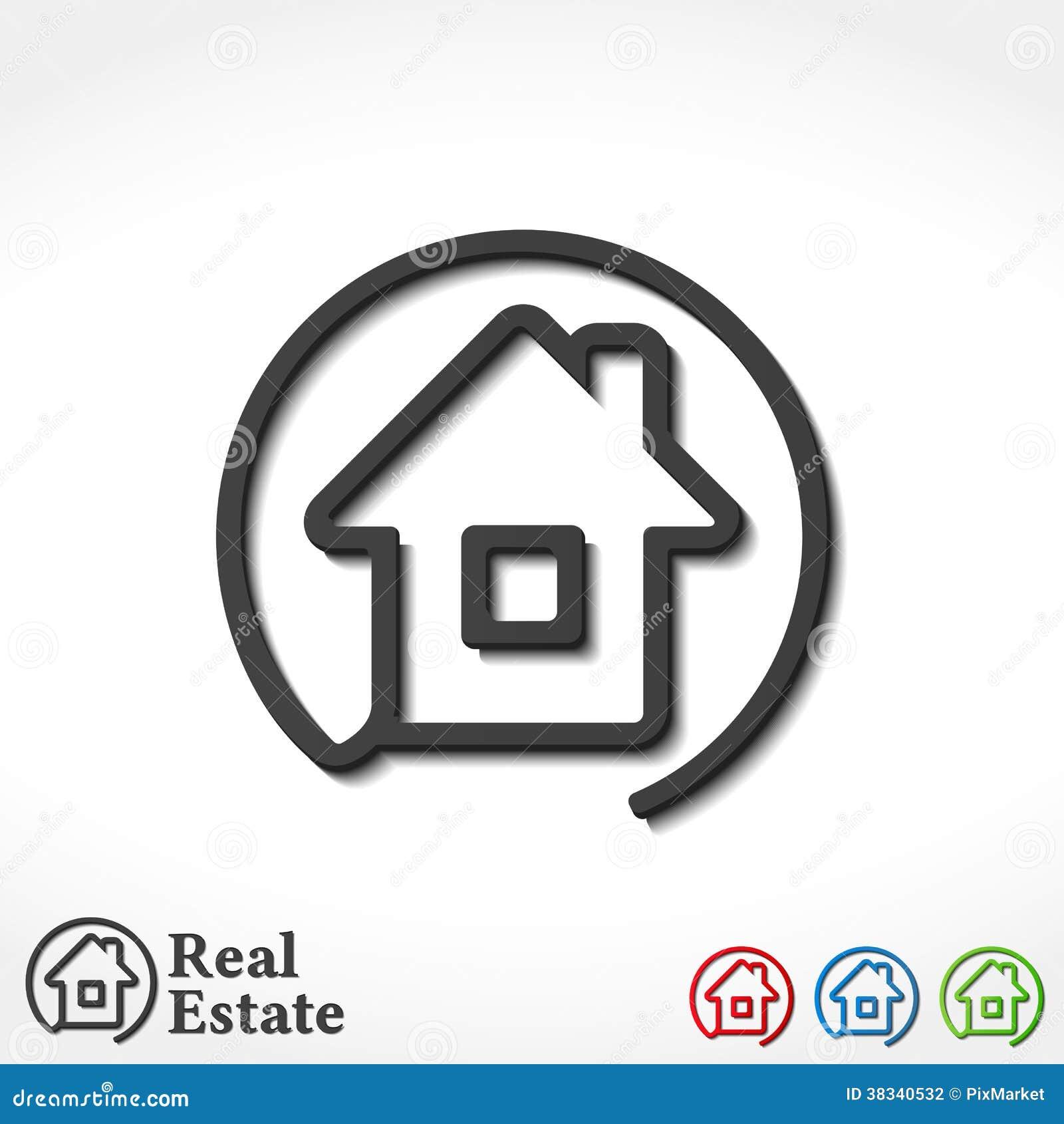 house icons stock vector image of real website estate 38340532. Black Bedroom Furniture Sets. Home Design Ideas