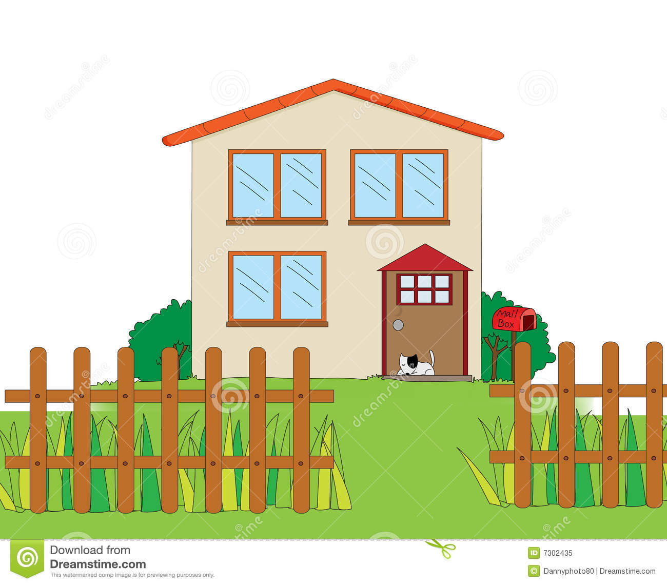 House illustration stock illustration illustration of for Free house photos