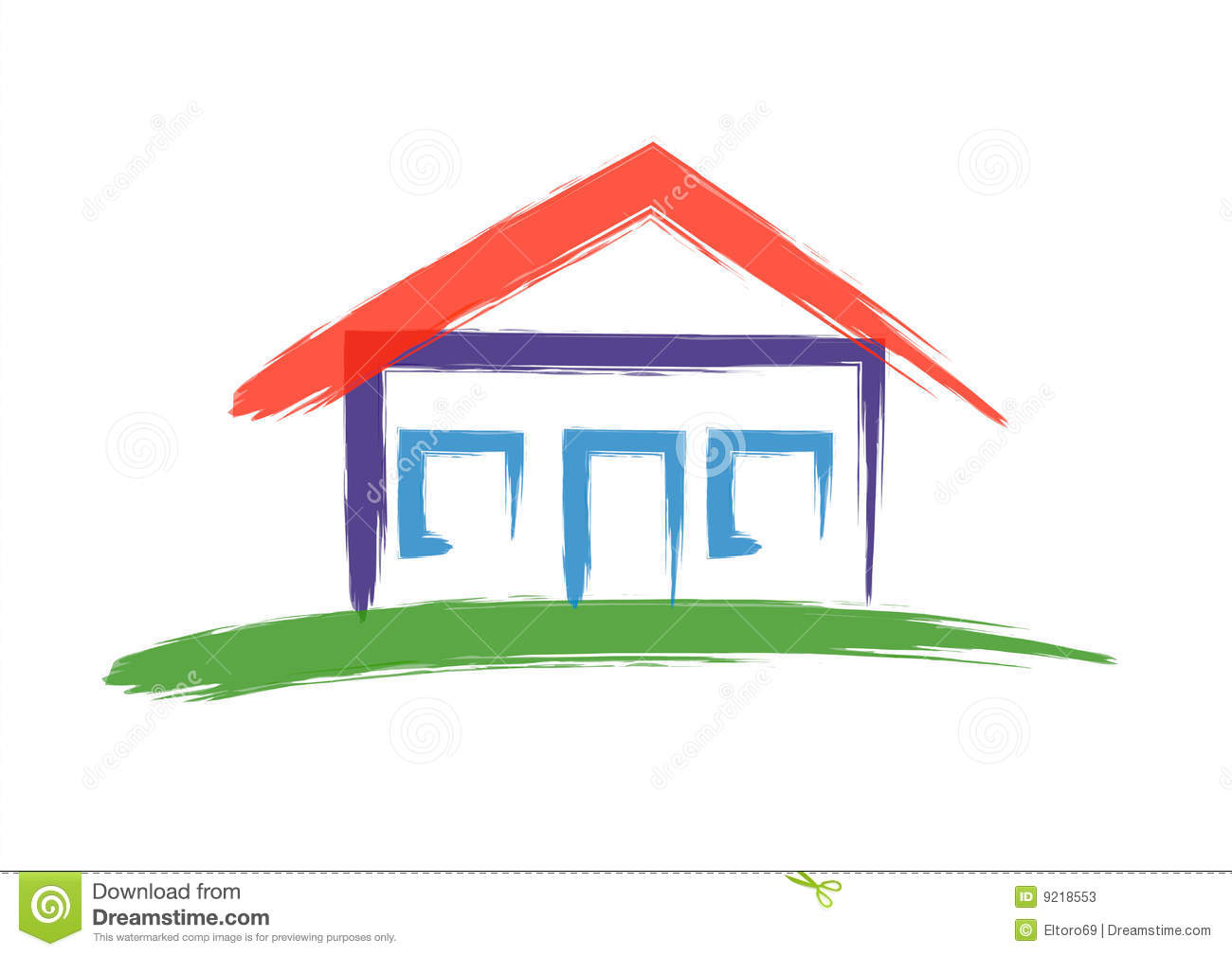 house illustration 9218553