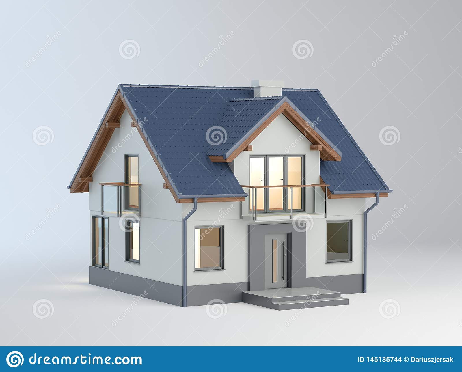 House illustration, 3D illustration