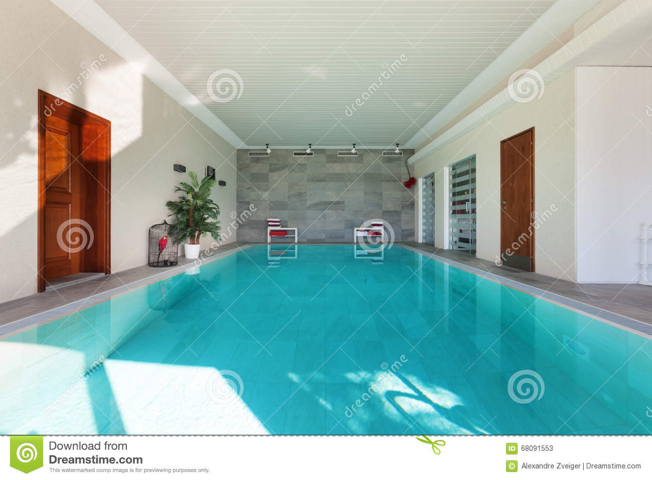 House, Indoor Swimming Pool Stock Image - Image of structure ...