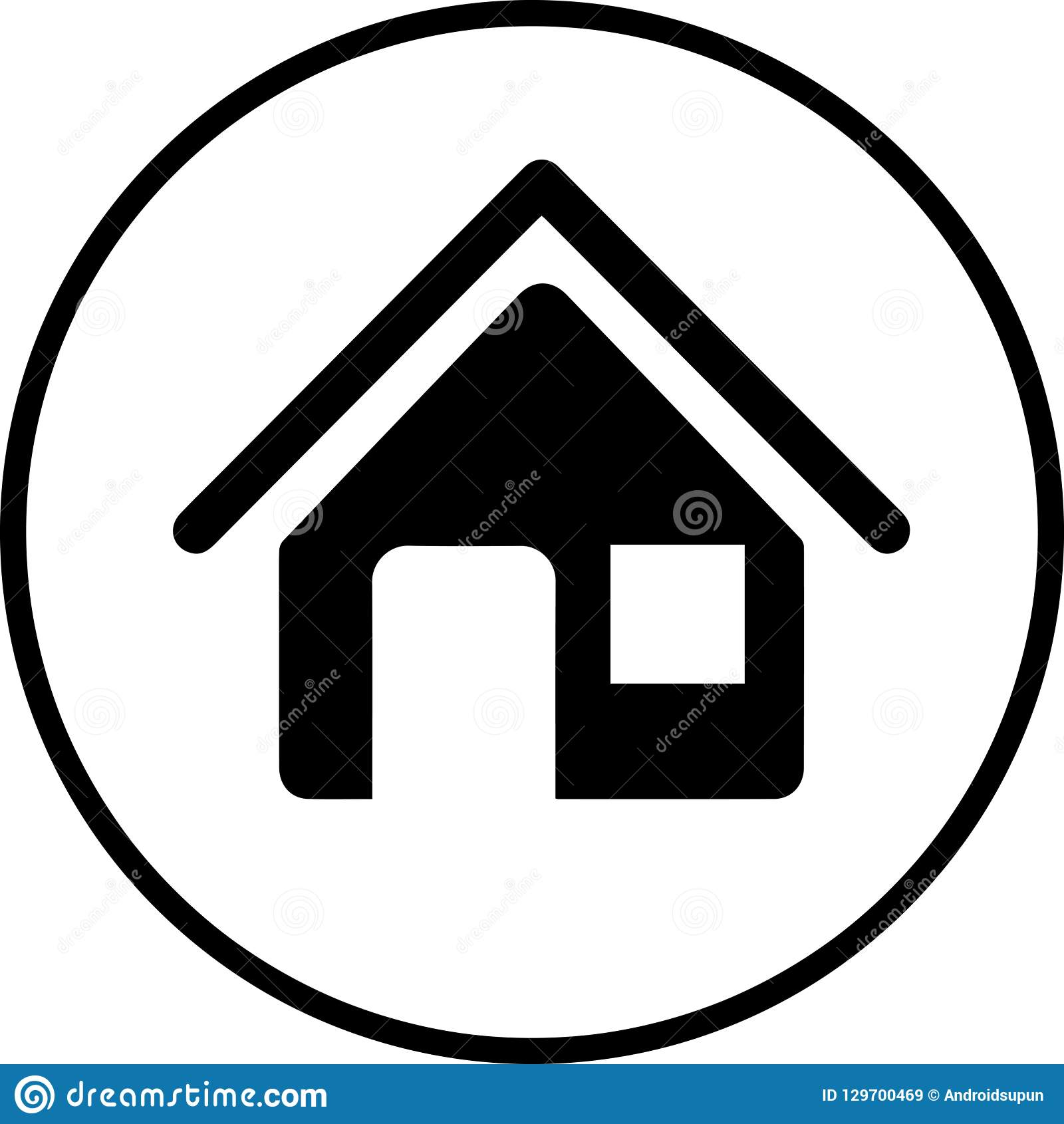 Home icon stock vector. Illustration of dream, brand ...