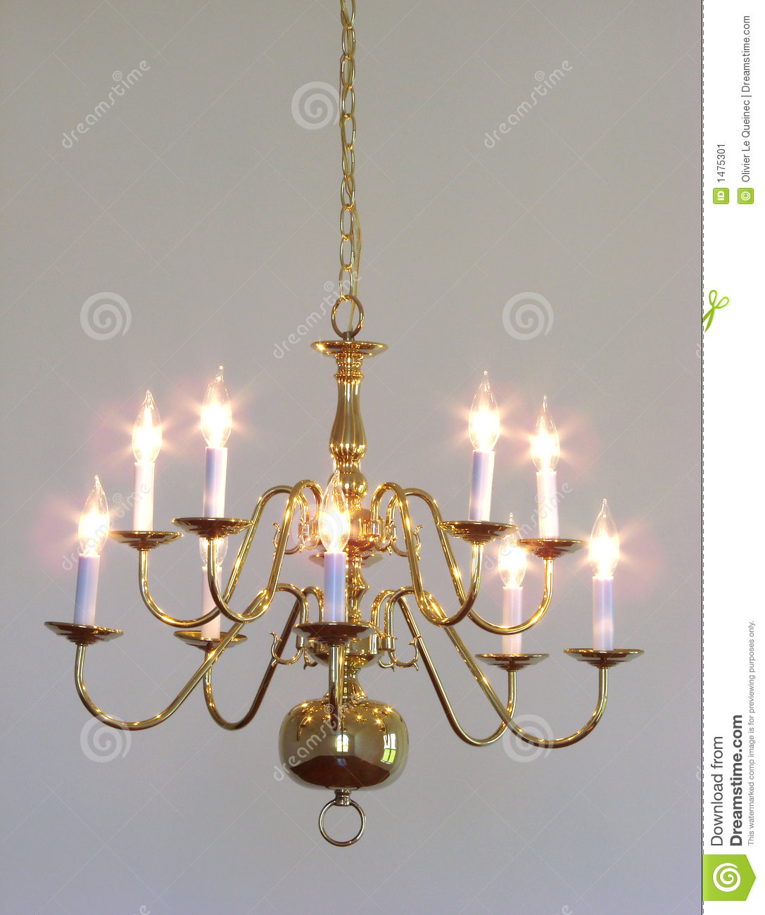 Brass Bulbs Ceiling Chandelier Classic Clear Dining