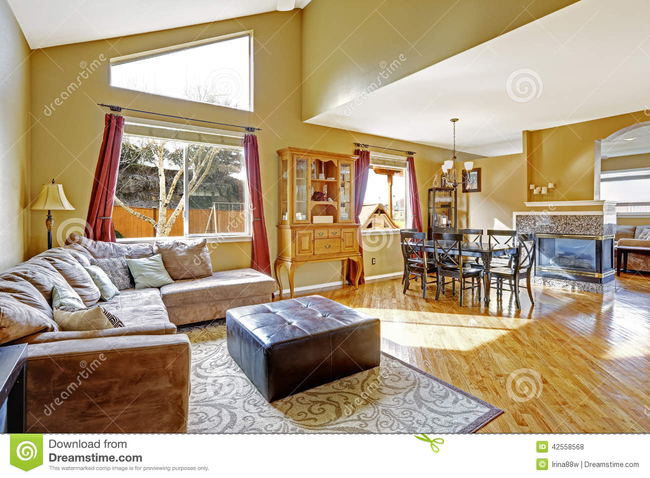 House interior bright living room with dining area and for Bright house design