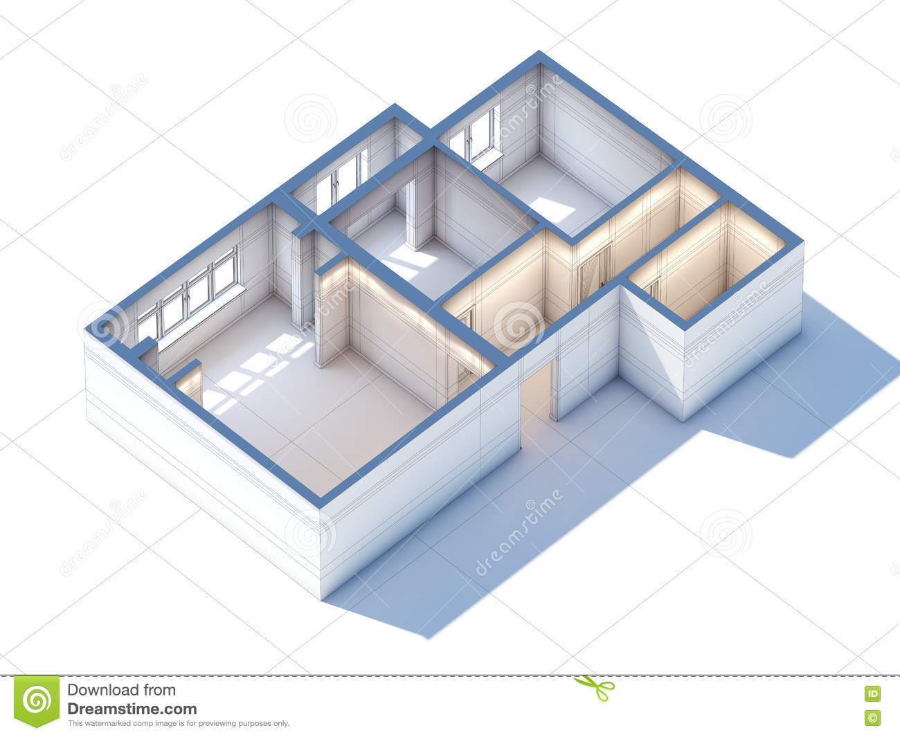 Interior Draft Royalty Free Stock Image Cartoondealer