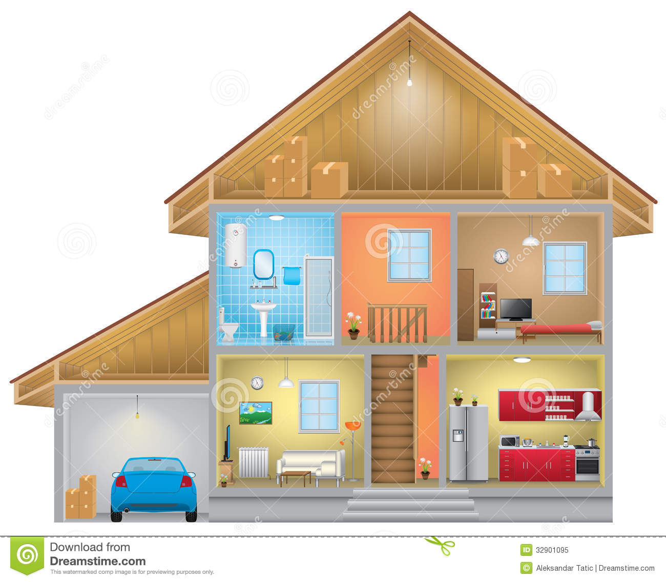 House Interior Royalty Free Stock Photo Image 32901095