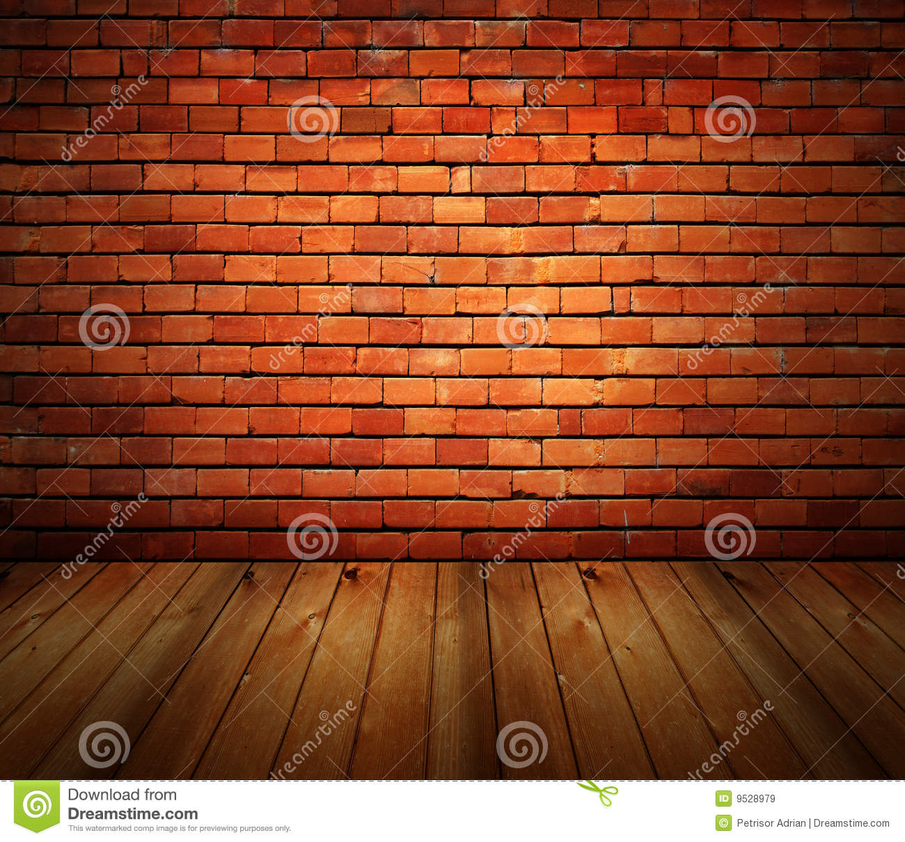 Brick Wall Interior House House Interior Grunge Brick Wall And Wood Floor Royalty Free Stock