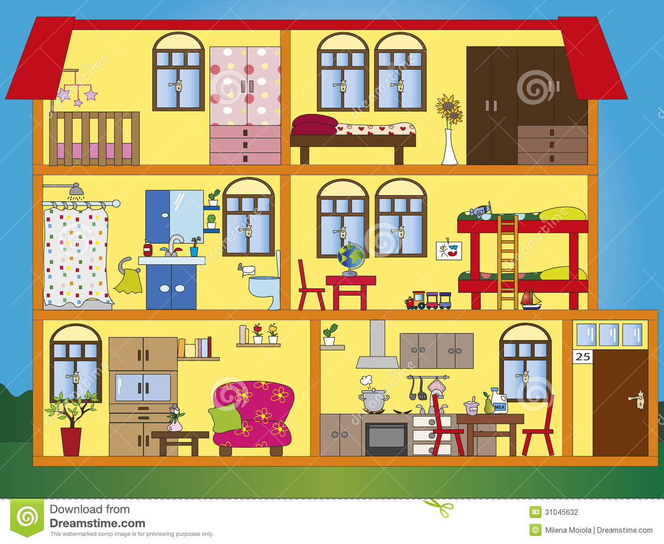House Interior Stock Photography Image 31045632