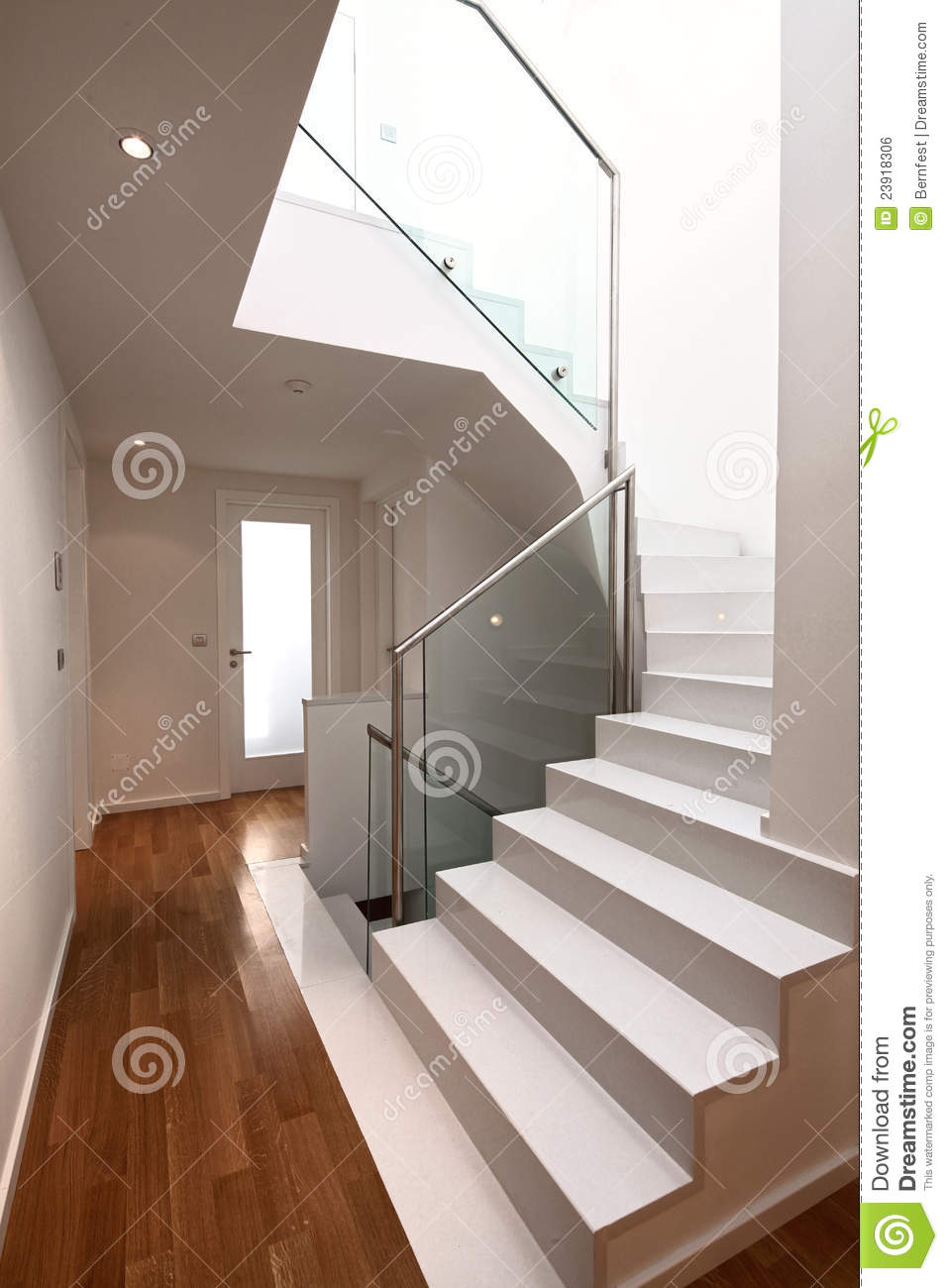 House interior with modern stairs royalty free stock image for Escaleras retractiles