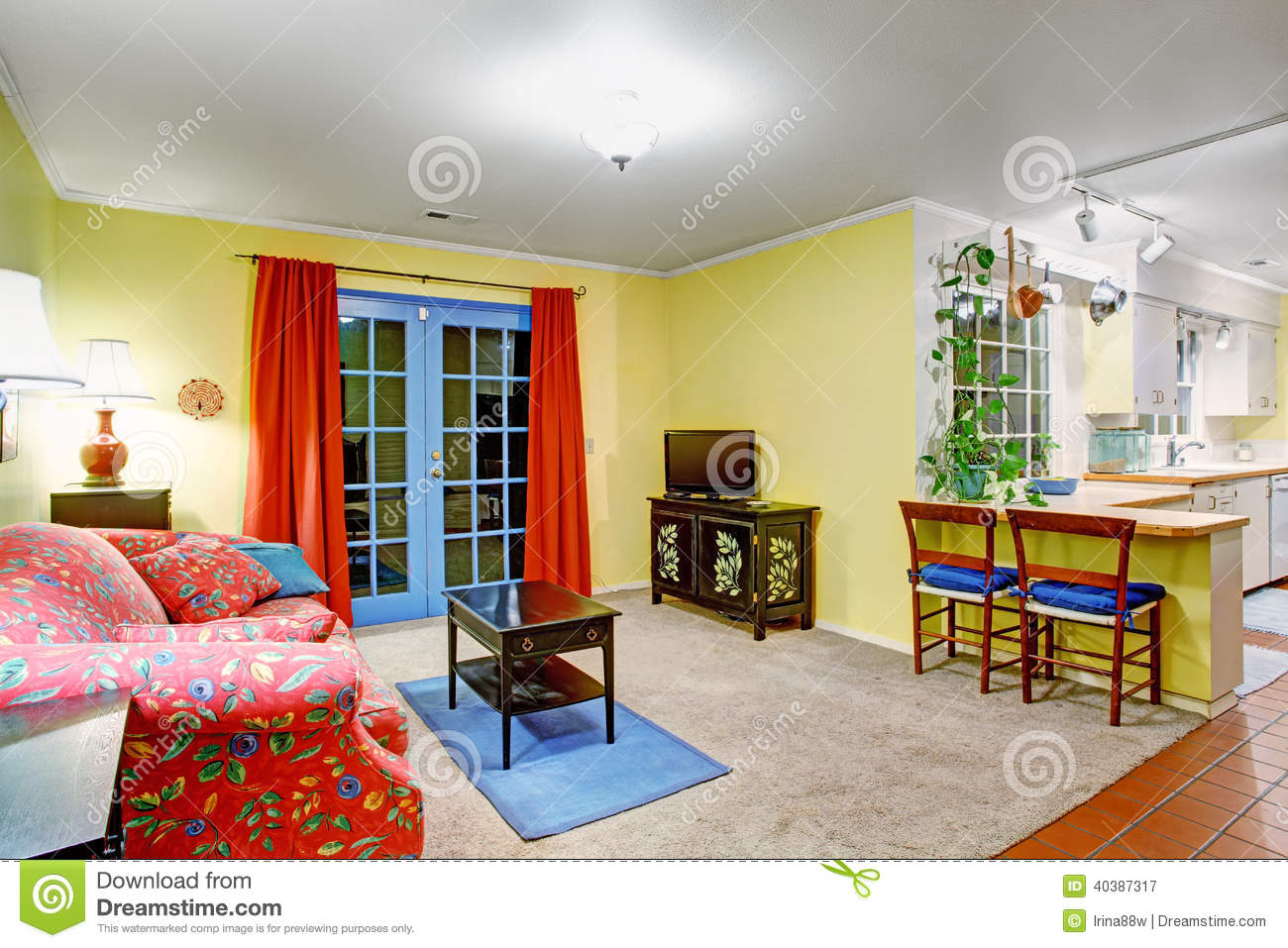 Fantastic Colors In House Interiors Image - Coloring Page ...