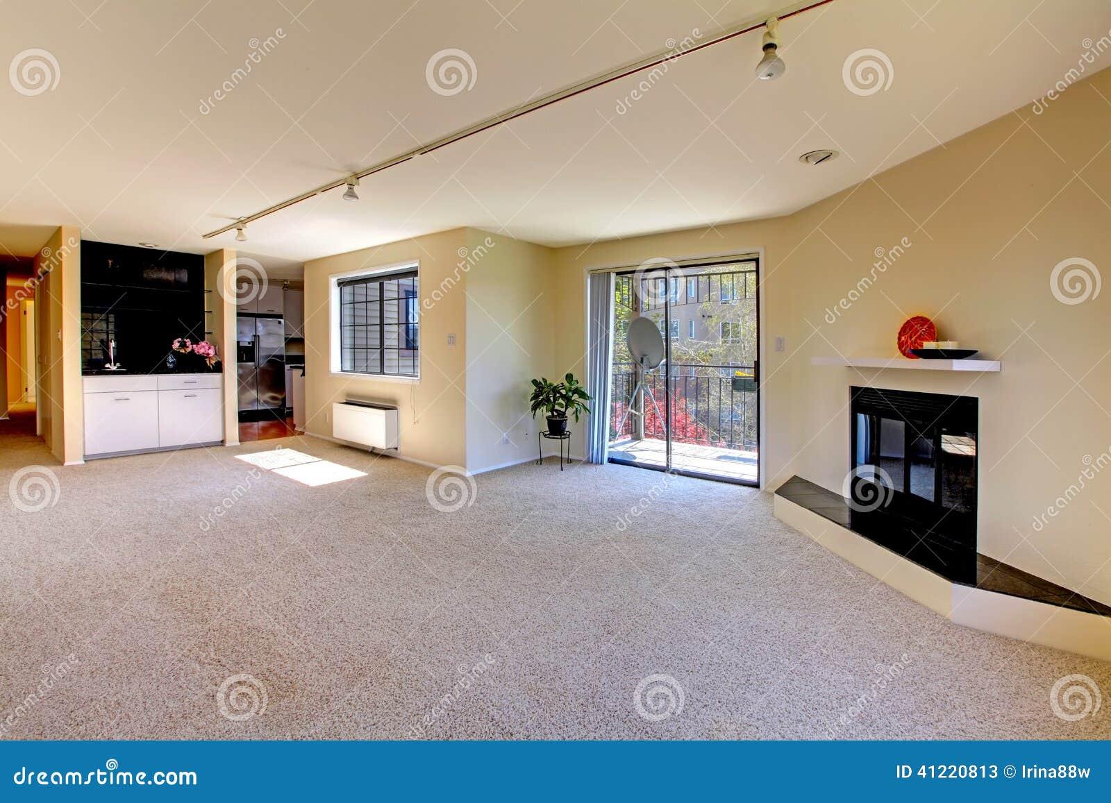 House Interior With Open Floor Plan Empty Room Stock
