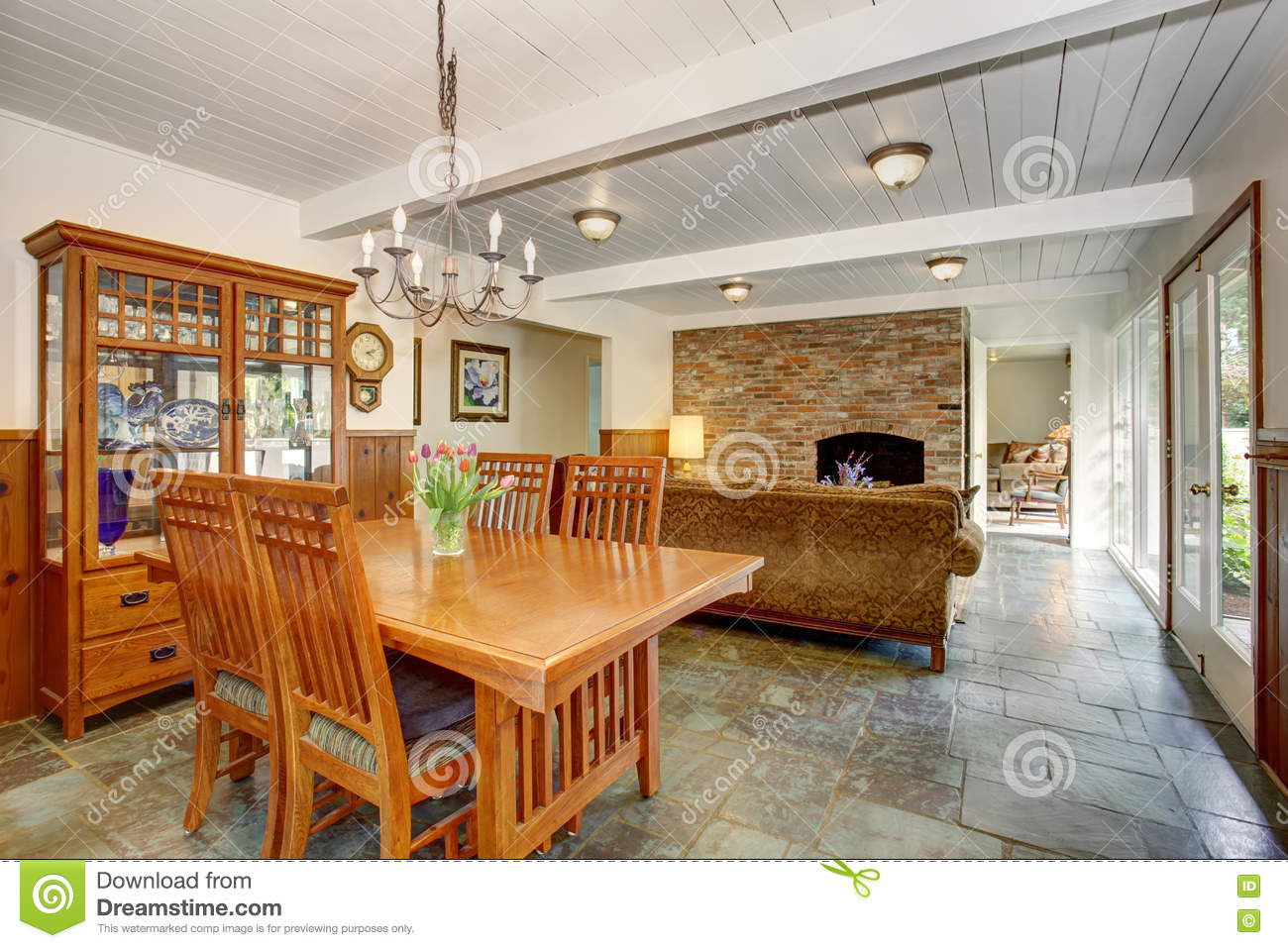 house interior with open floor plan, including dining room, living