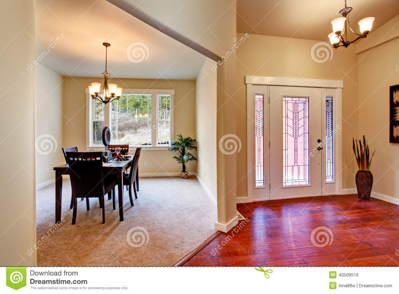 House Interior Open Floor Plan Stock Image Image 40509519
