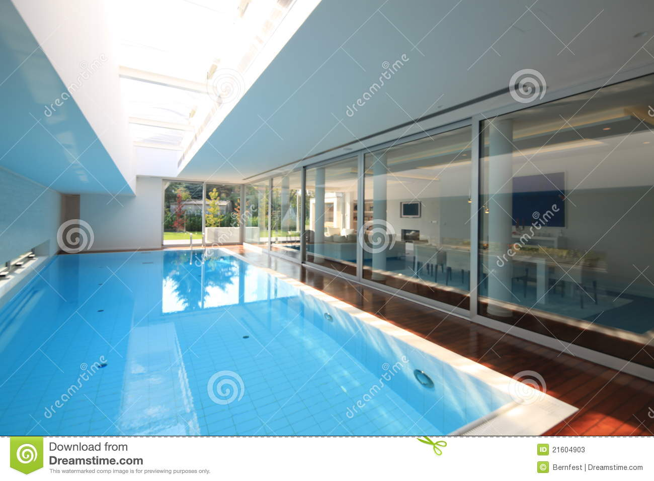 House interior with swiming pool stock photos image for Pool house interior
