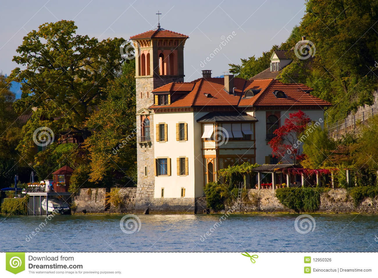 A house in italian style stock photo image of estate for Italian style house