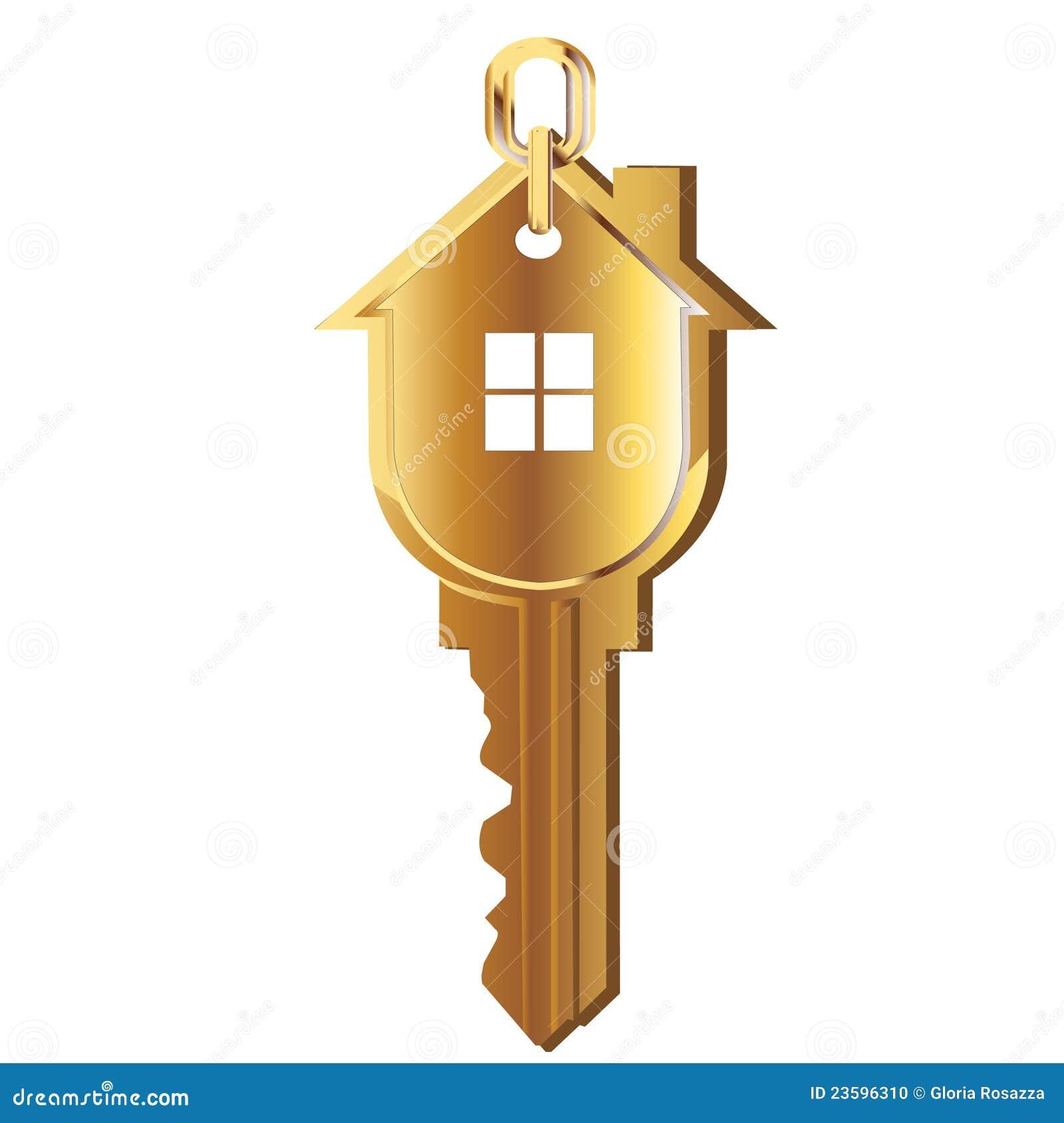 Home Design 3d Gold: House Key Gold Logo Stock Photo