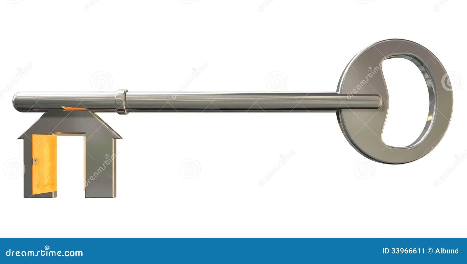 Superieur House Key With Open Door Insert