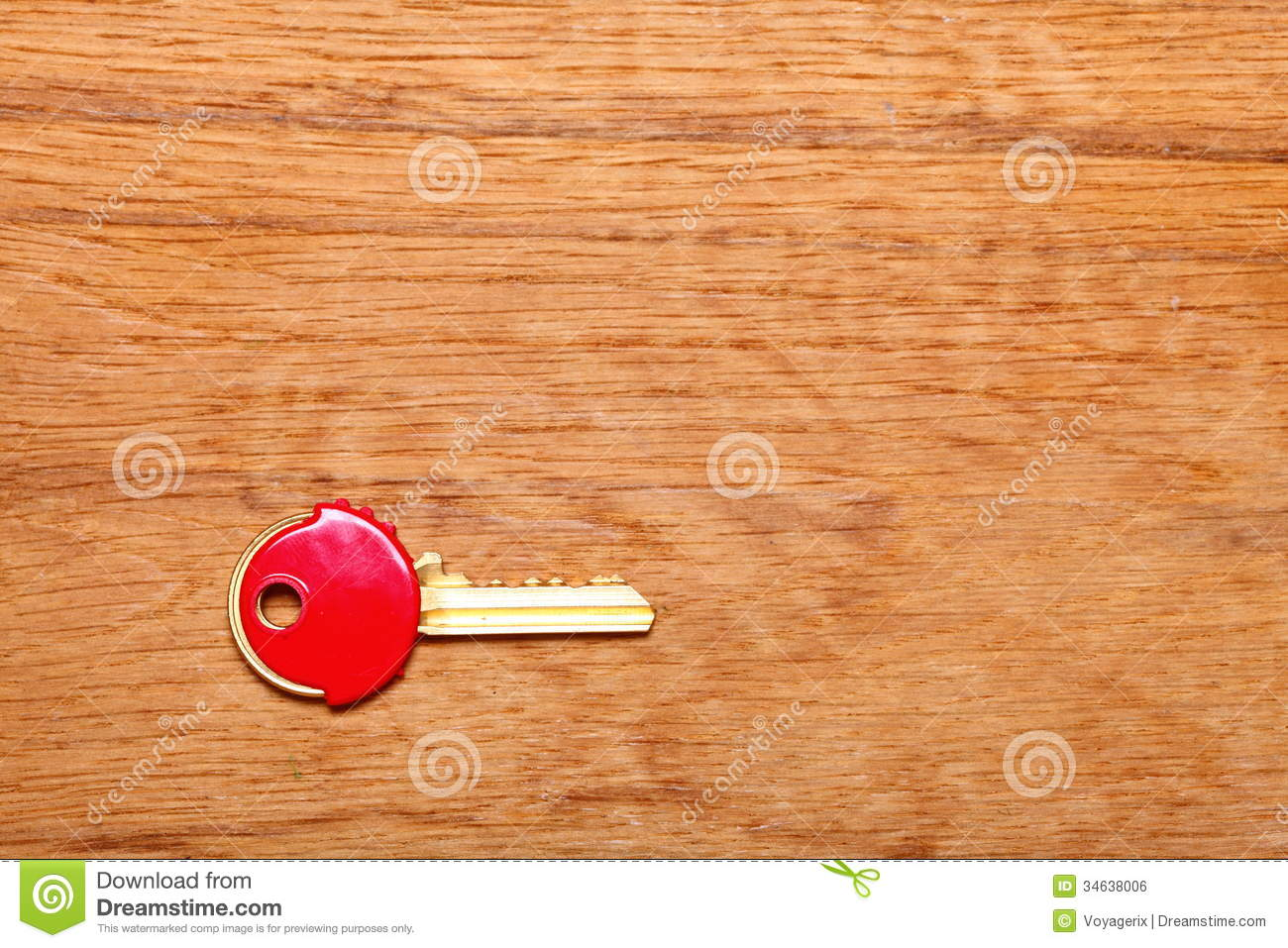 House Key With Red Plastic Coats Caps On Table Royalty ...