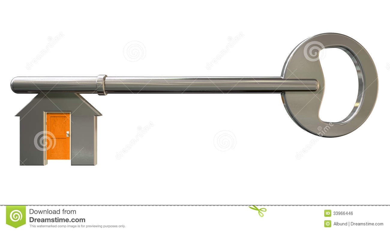 House key with shut door insert royalty free stock image for Concept metal