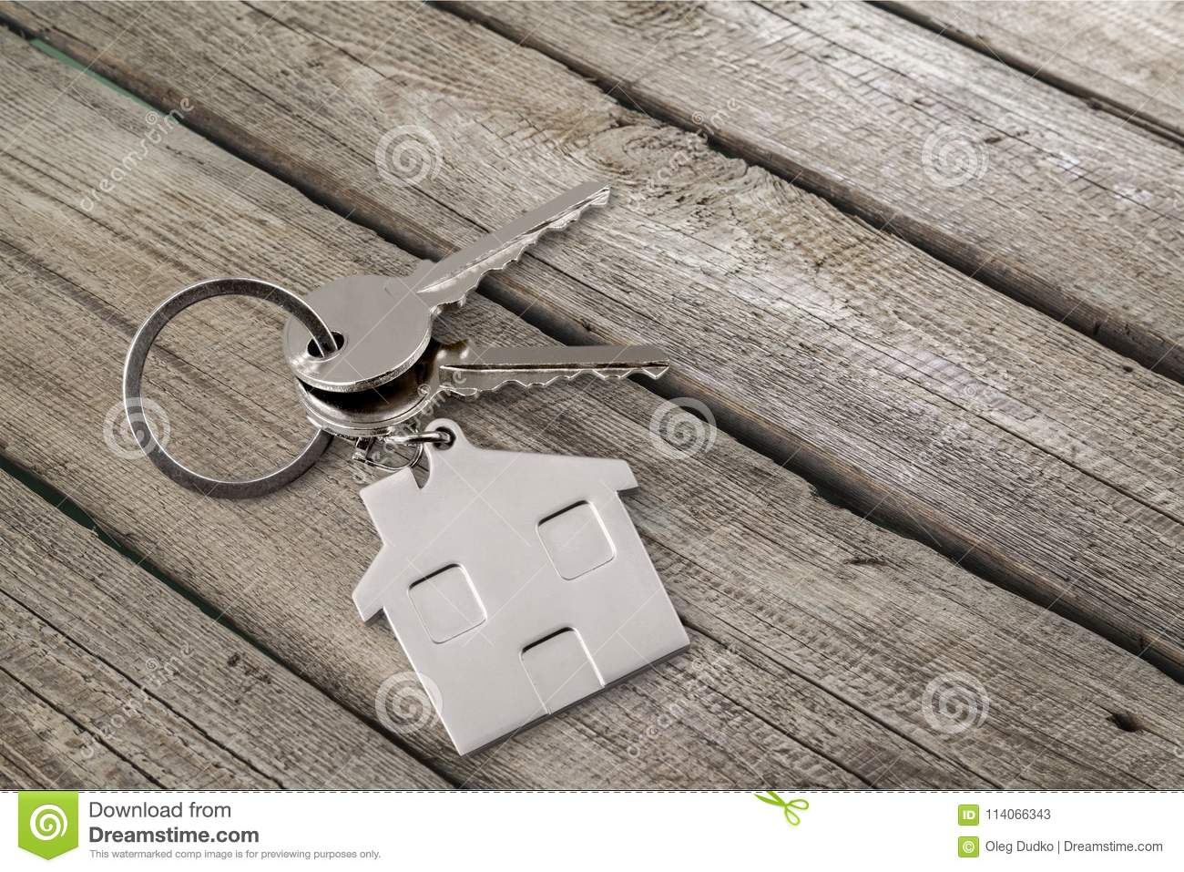 House key on the table stock image. Image of business ...