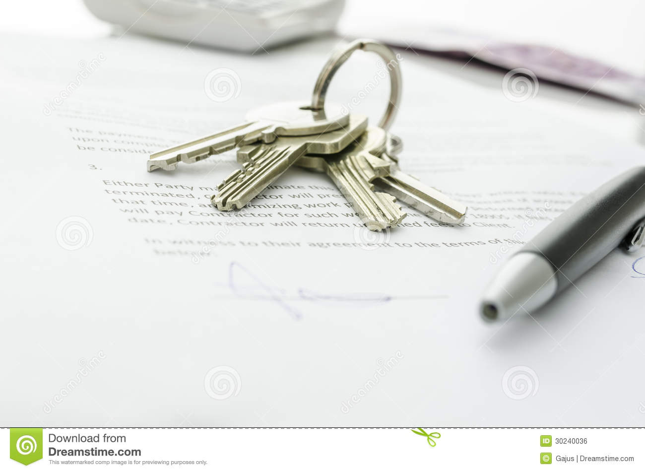 House Sale Contract   House Keys On A Contract Of House Sale Stock Photo Image Of Final