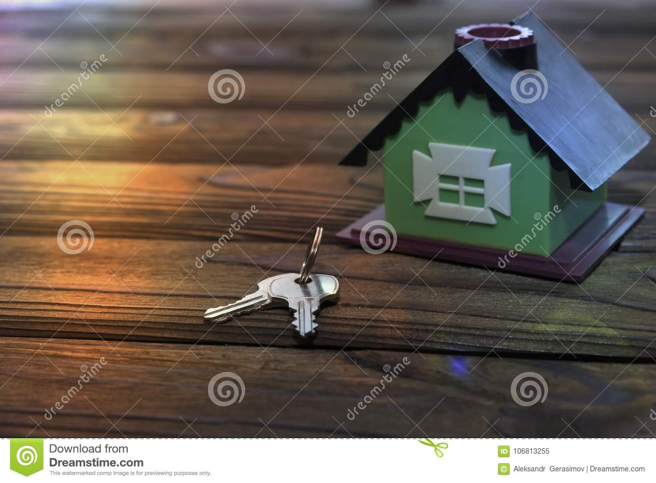 House, Keys On A Wooden Table. Stock Image - Image of ...