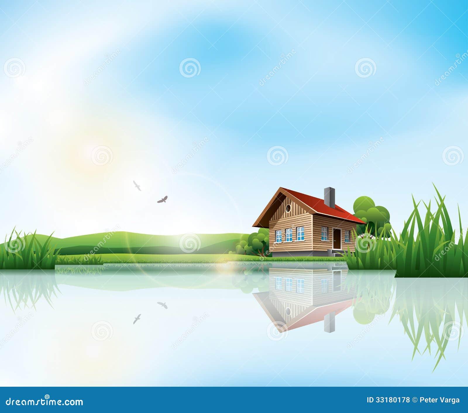 free clip art lake house - photo #22