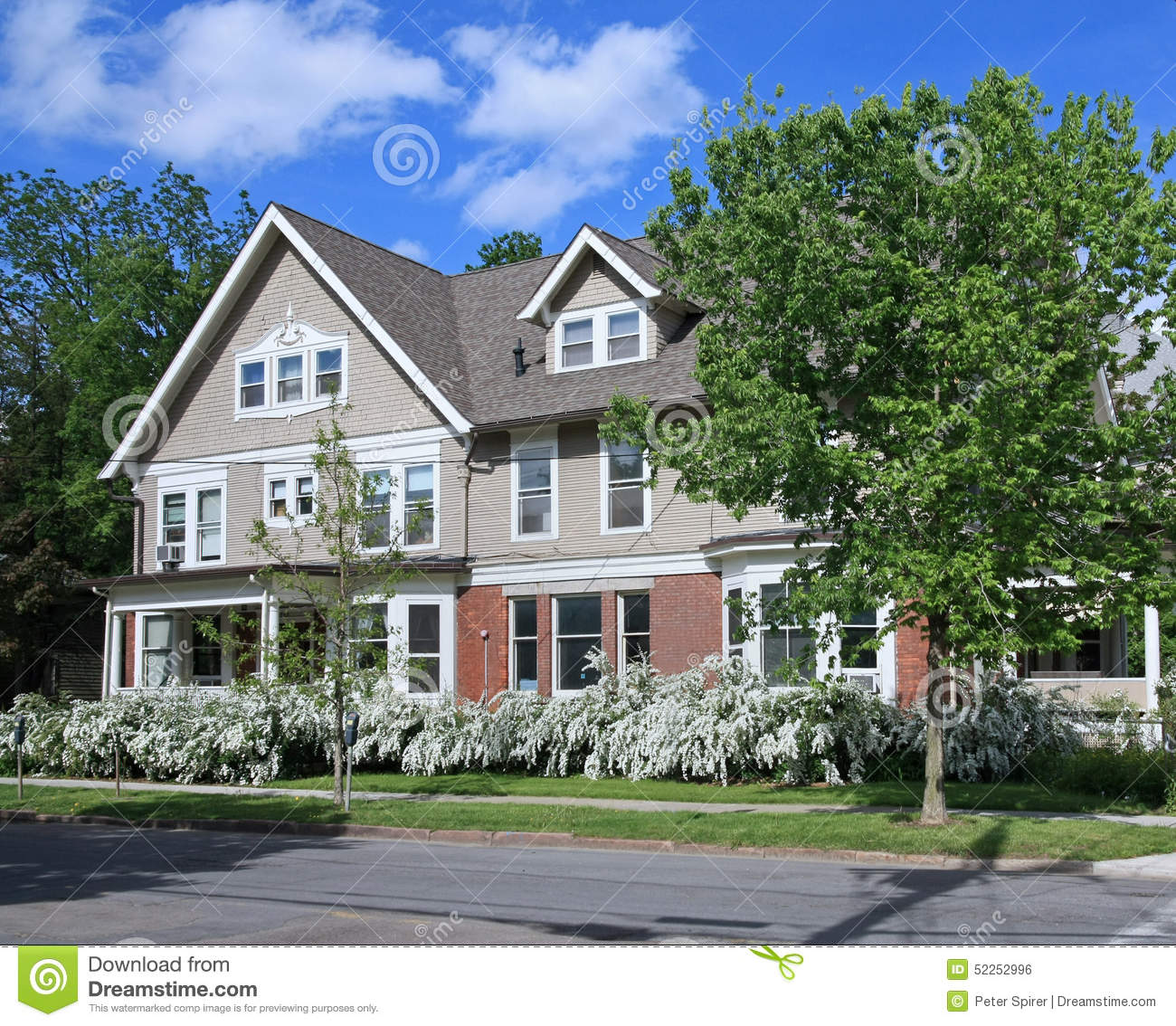 House with large porch stock photo image 52252996 for Homes with large porches