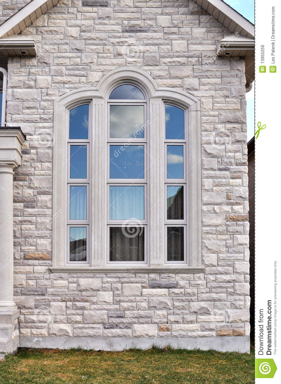 House With A Large Window Royalty Free Stock Images